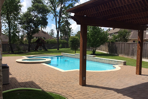 Pool builder service areas texas pool champions for Pool design katy tx